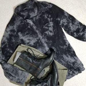 Rock & Republic Tie Dye Flannel Button Down Shirt